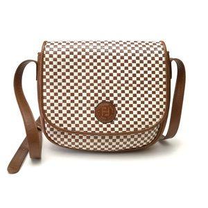 Vintage Fendi Woven Leather Flap Bag Purse